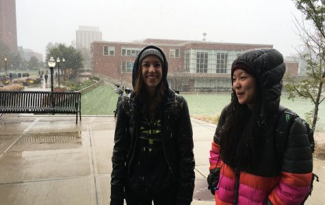 'It's kind of early for this': October snow upsets students
