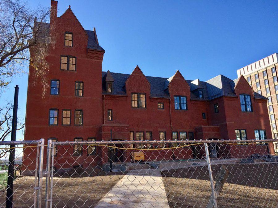 South College's brick facade.