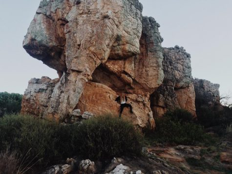 In Cederberg, travelers often climb the rock because of it's resemblance to an elephant.