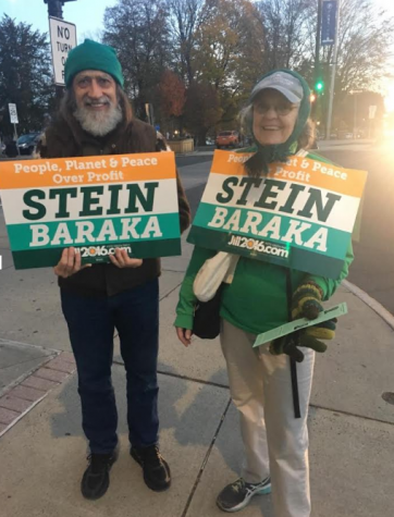 Barbara and Hendrik Van den Berg supporting third-party candidate Jill Stein.