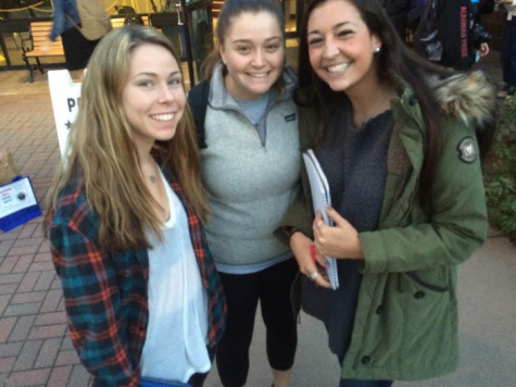 Clair Hegarty, Annie Malloy and Samantha Zaino (from left to right).