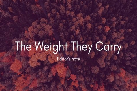 The Weight They Carry: Editor's note