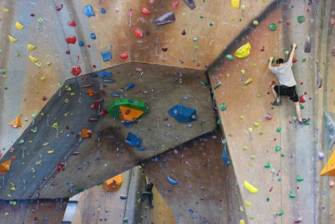 Beating the cold at the Hadley Central Rock Gym