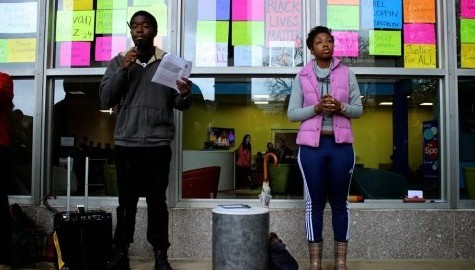 Students gather to protest racism and police brutality