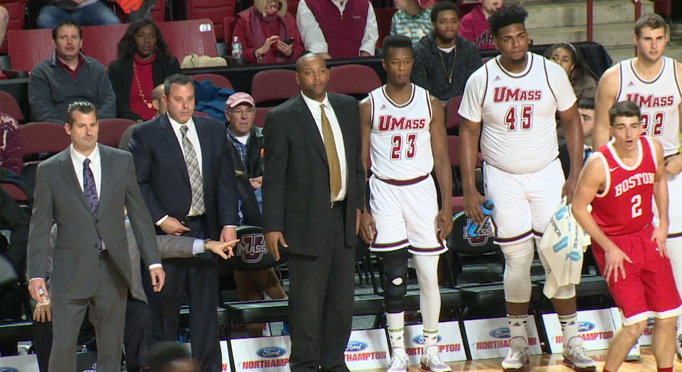 Former+UMass+men%E2%80%99s+basketball+coach+Derek+Kellogg+%28far+left%29.
