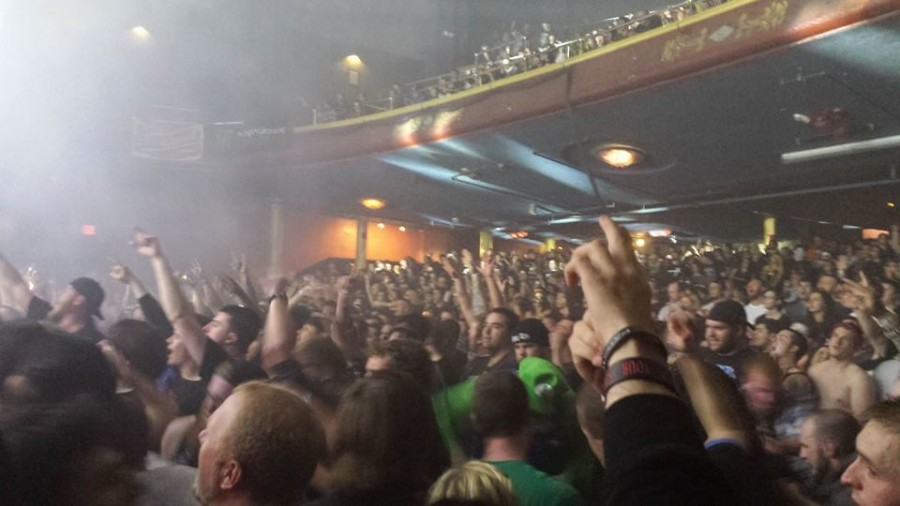 concert goers enjoy their night out at the Monsters Mosh on Halloween 2014 at the Palladium in Worcester, Mass. -Taken by Alex Lindsay-