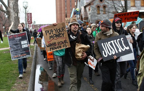 Divest UMass holds rally and sit-in