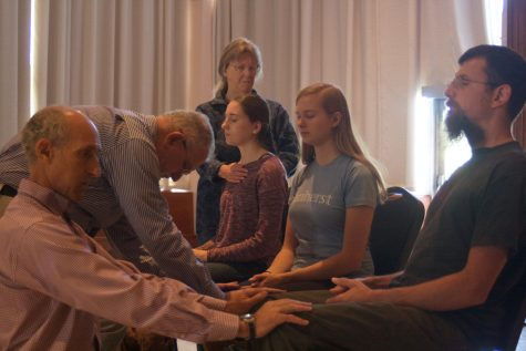 Pioneer Valley Reiki provided free services to students at the event. (Morgan Hughes/Amherst Wire)