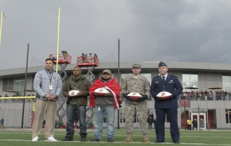 Army and Air Force ROTC duel it out at the last home game