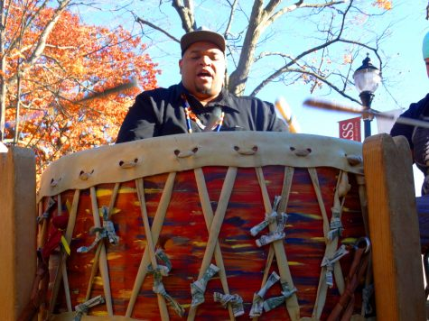 Along with the speakers, performers also expressed solidarity with tribal music, rap, poetry and more. (Jon Decker/Amherst Wire)