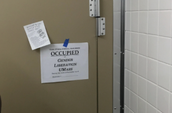 Bathroom occupation begins at Whitmore Administration Building
