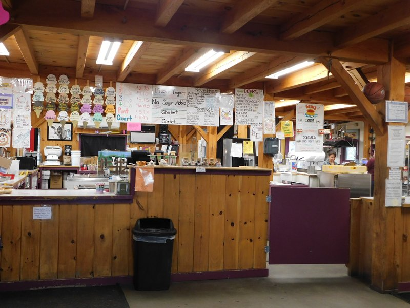 The ice cream counter at Flayvors of Cook Farm features a wide selection.