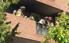 Apartment fire on Kellogg Avenue