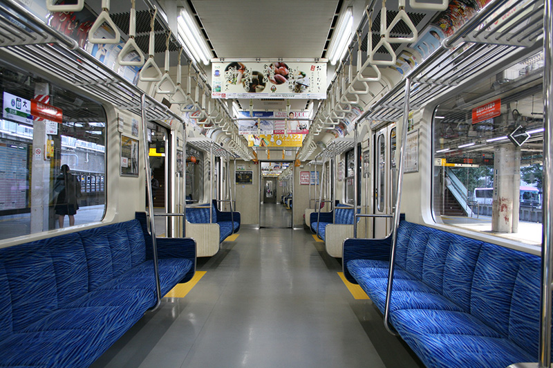 A typical Japanese Train, surprisingly empty. The perfect scenery for an existential crisis.