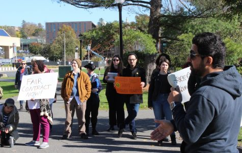 UMass graduate students rally for livable wages
