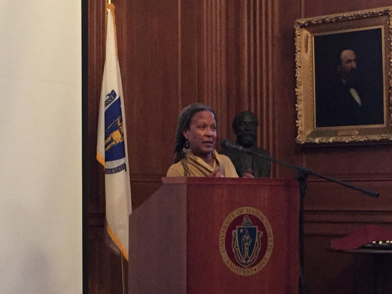 Lecia Brooks addresses UMass Amherst about the current state of hate and extremist groups in the United States.
