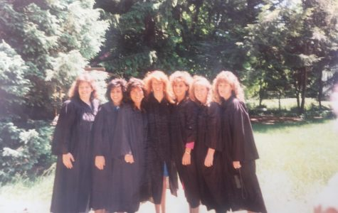 Some of Shea's best friends from her undergraduate years stand side by side at their graduation in 1989. (Jennifer Shea/contributed photo)