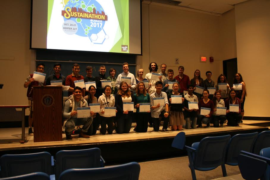 Once the event came to a close, Sustainability Projects Abroad provided everyone involved in the event a congratulatory certificate (Brian Choquet/Amherst Wire).