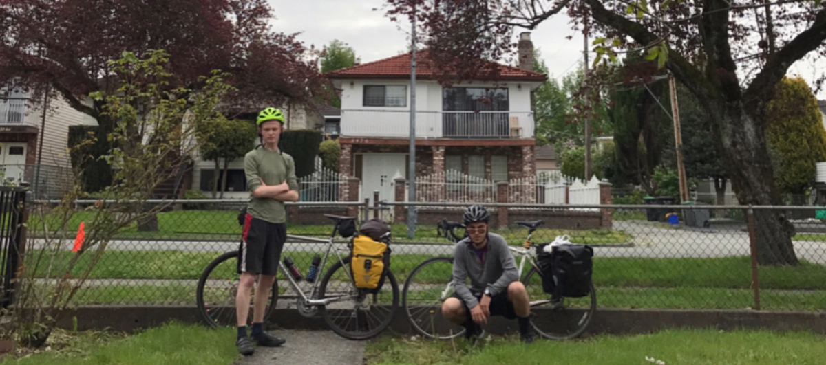 Photo from @twoguysonbikes2017 on Instagram made to document the bike trip.