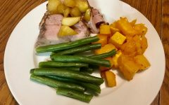 Frugal Foodie: Pork tenderloin, roasted butternut squash and green beans
