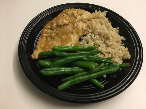 Frugal Foodie: Lemon chicken with brown rice and green beans