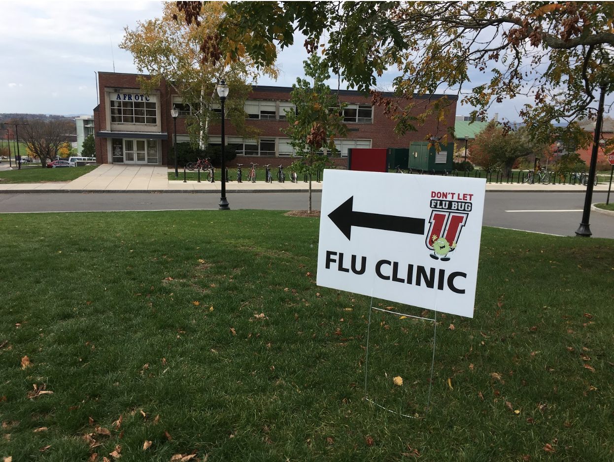 University Health Services is helping students protect themselves against the flu this year with vaccine clinics held in the Commonwealth Honors College (Michael Connors/Amherst Wire).