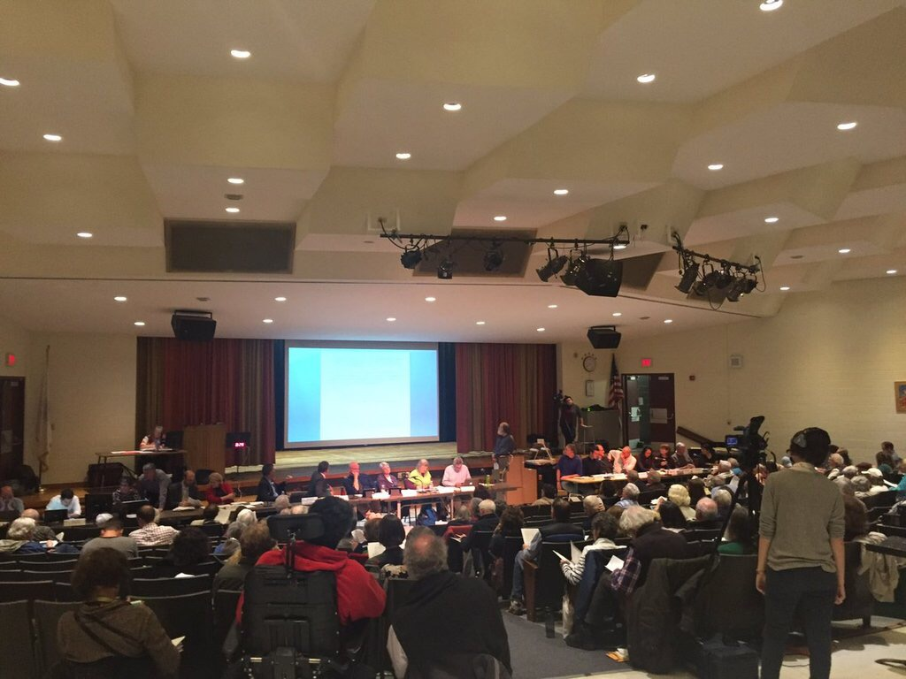 The Amherst Town Meeting took place on Nov. 6 at Amherst Middle School, where members decided to limit marijuana stores in town. (Liam O'Connor/Amherst Wire)