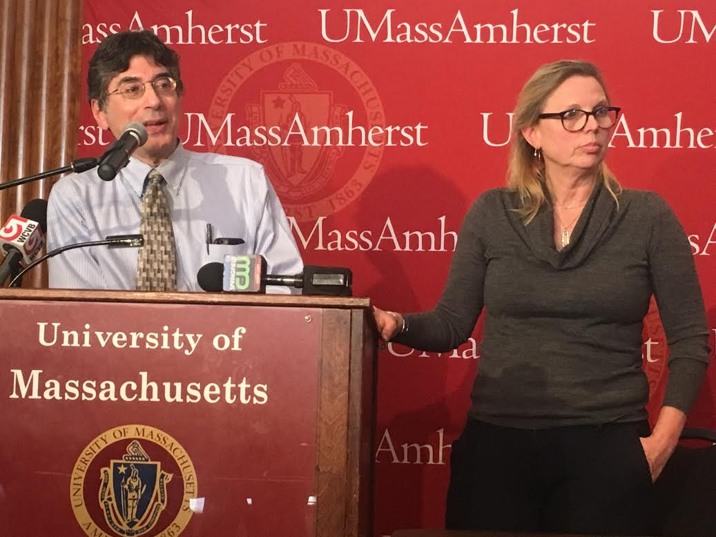 UMass Health Services Director Dr. George Corey (left) and Public Health Nurse Ann Becker (right). (Cameron Merritt/Amherst Wire).