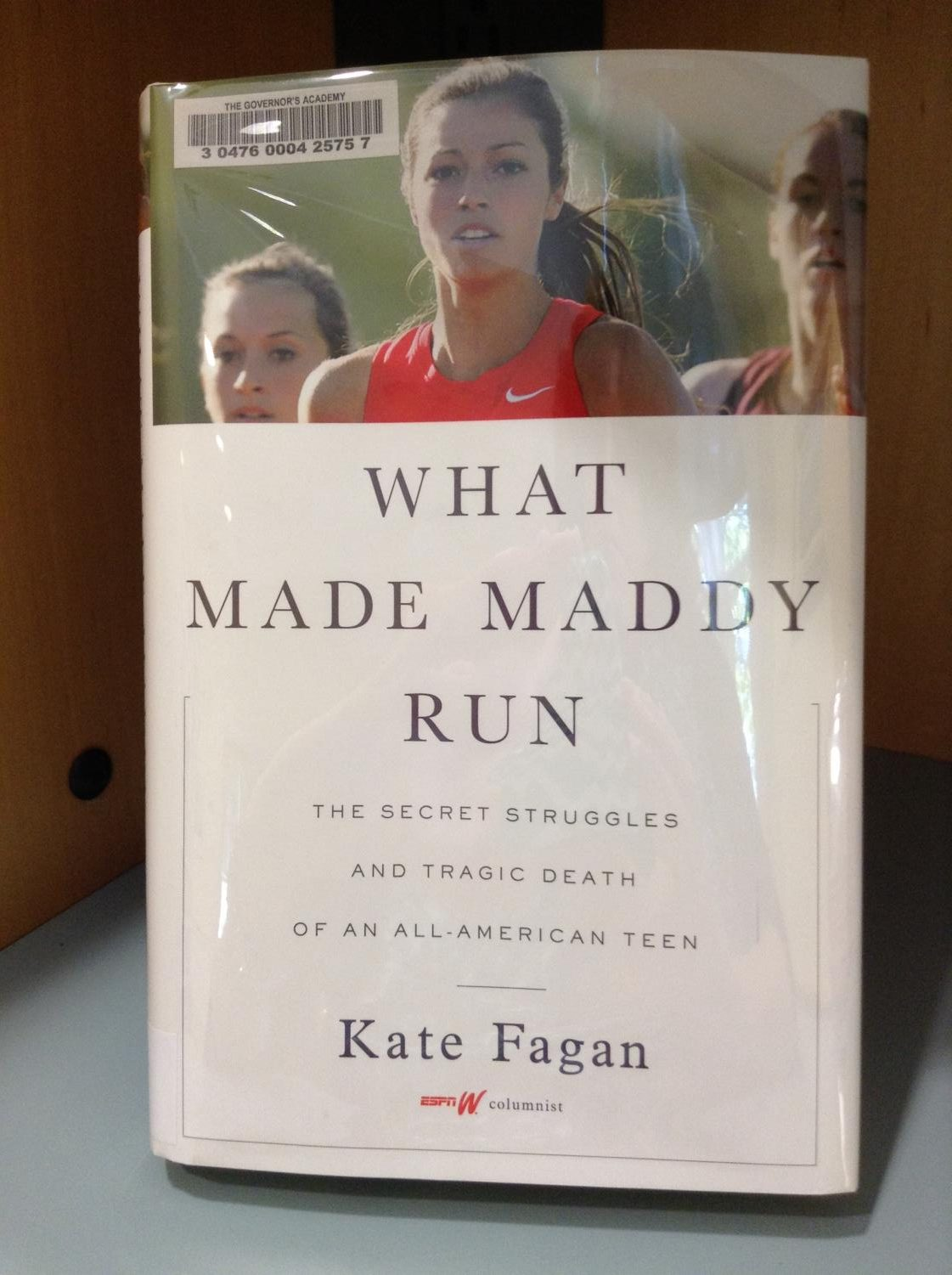 """What Made Maddy Run"" by Kate Fagan tells the story of a college student's struggles with mental health. (Image courtesy of Pesky Librarians via Flickr)."