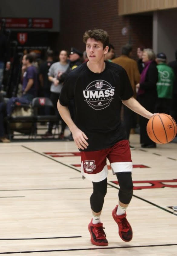 Mike+Gillespie%2C+a+UMass+freshman%2C+made+the+UMass+Men%27s+Basketball+team+after+a+walk-on+tryout+this+fall+%28Lianne+Gillespie%2FContributed+Photo%29.