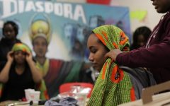 The beauty in fabric: Headwrapping tutorials celebrating Black History Month hosted by UMass SoCA, iMOSÉ, AACE