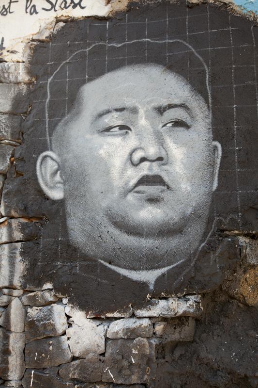 Graffiti+of+Kim+Jong-Un.+%28Thierry+Ehrmann%2FFlickr%29+