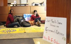 UMass Graduate Employee Organization stages sit-in at Whitmore