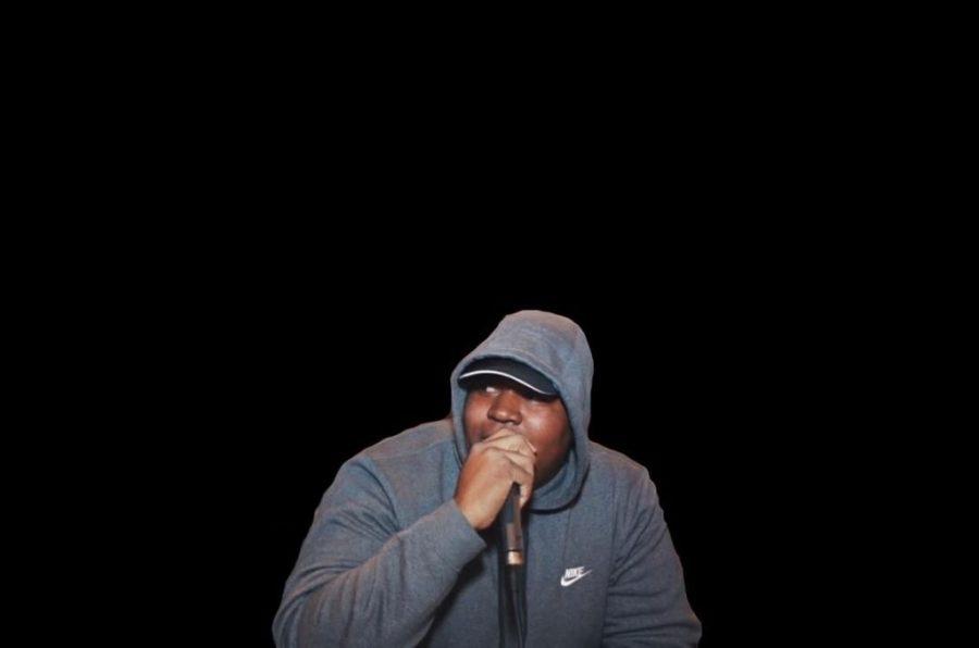 Convertible Kris, a Mass Music Radio DJ, emceeing at an event.