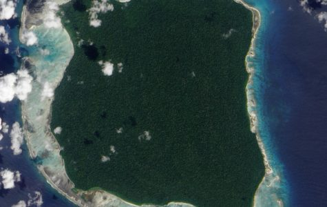North Sentinel Island, home to one of the last primitive tribes on Earth. (Jesse Allen, NASA)