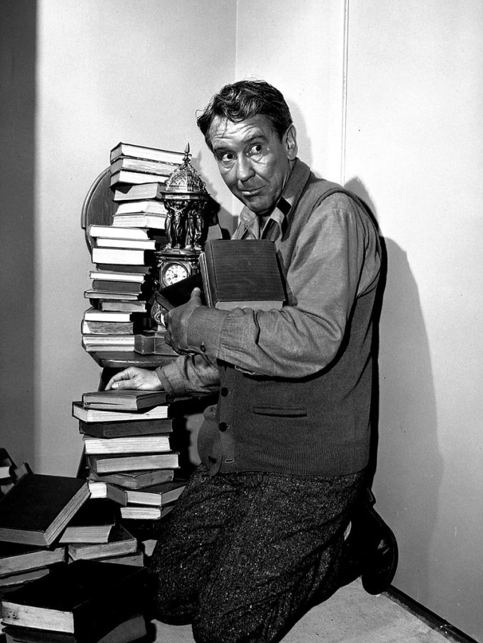 """Burgess Meredith in """"The Obsolete Man,"""" an original """"The Twilight Zone"""" episode [1961](CBS Television/Wikimedia Commons)"""