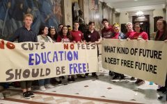 UMass students hold sit-in at State House
