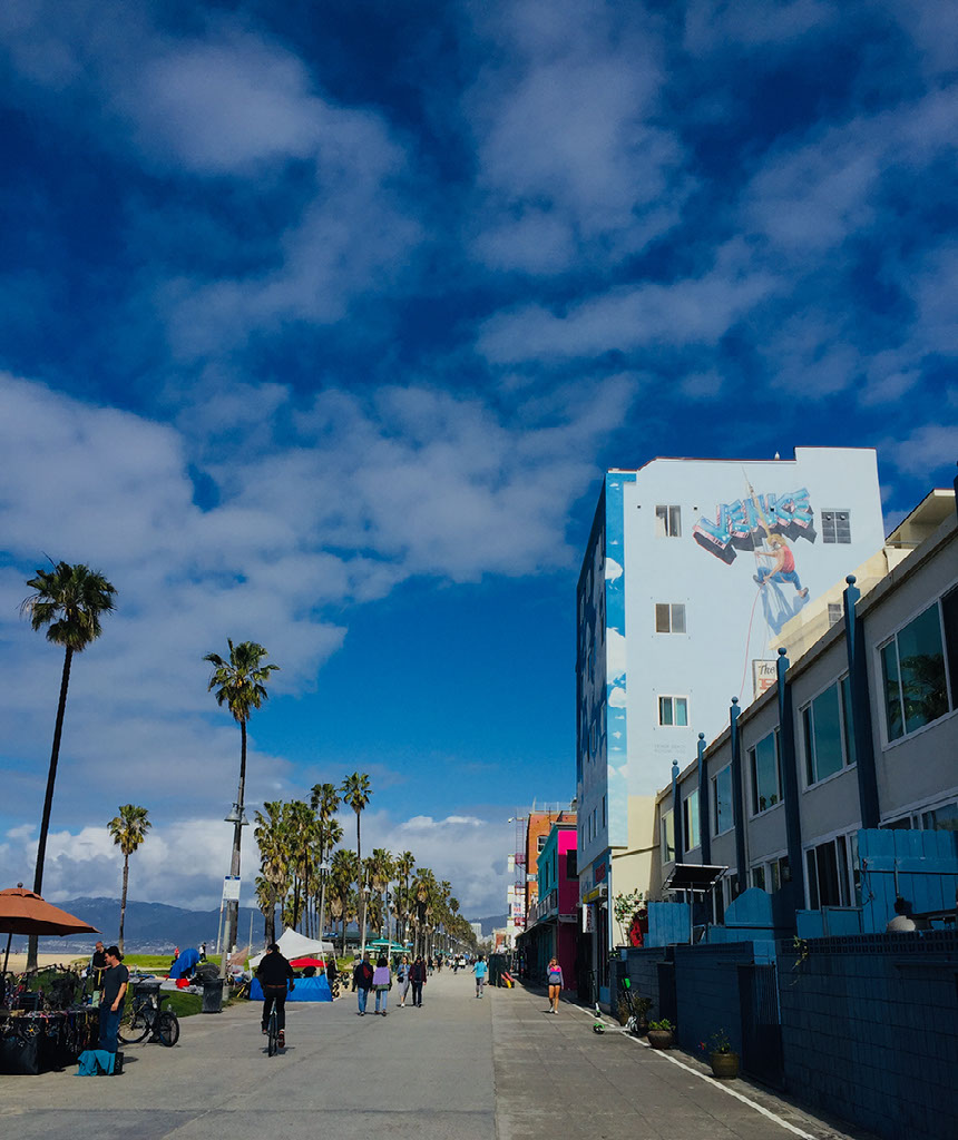 Venice Oceanfront Boardwalk created in 1905.