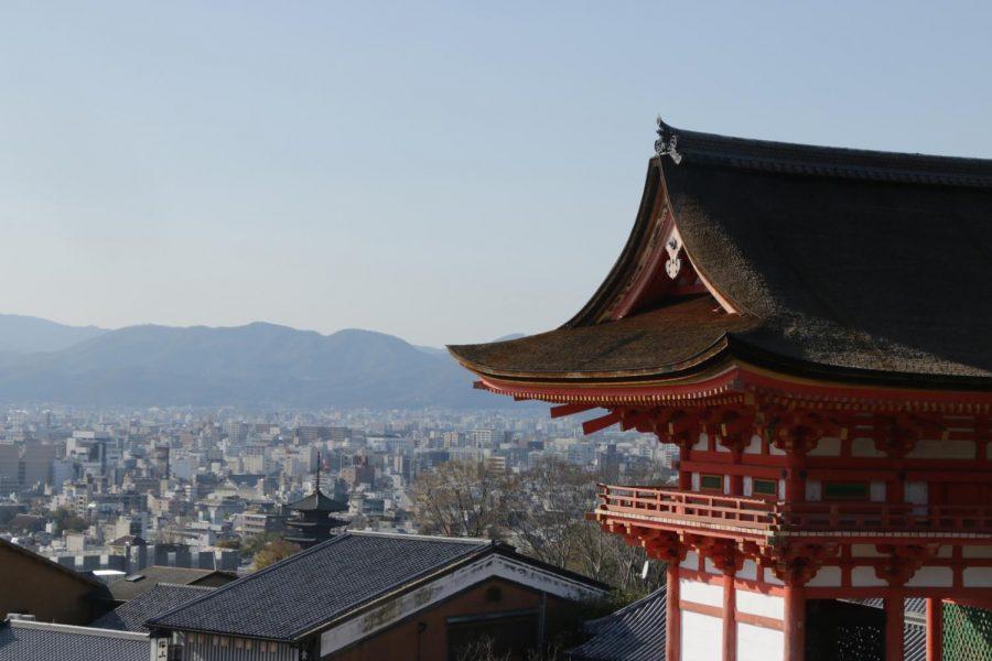 Kiyomizu Temple looking over Kyoto
