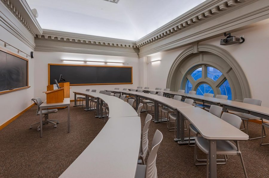 Photographs showing the remodel and renovation work done to Lathrop Hall.