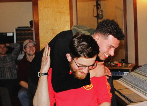"""Arkain and Focus at the listening party for """"It Takes a City"""" at Northfire Recording Studio in March 2020/Sammy Croteau"""