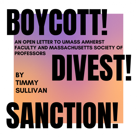 Boycott! Divest! Sanction!: An Open Letter to the UMass Amherst Faculty Senate and Massachusetts Society of Professors