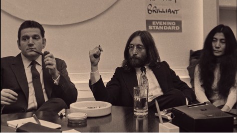 "Allan Klein with John Lennon and Yoko Ono as presented in ""ReMastered: The Two Killings of Sam Cooke""/ Netflix"