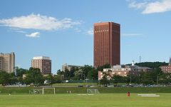The University of Massachusetts Amherst Skyline from South Field/ Wikimedia Commons user Eraboin