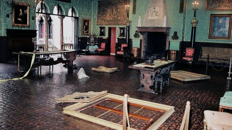 The Dutch Room after the heist, photographed by the FBI on March 18, 1990 / This Is a Robbery (Netflix)