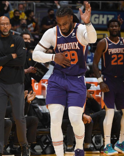 Jae Crowder imitates LeBron James after beating the Los Angeles Lakers in the first round of the NBA playoffs. (Credit - Jae Crowder's Instagram Page)