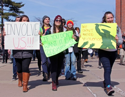 Rioting at UMass: A college-scale arms race