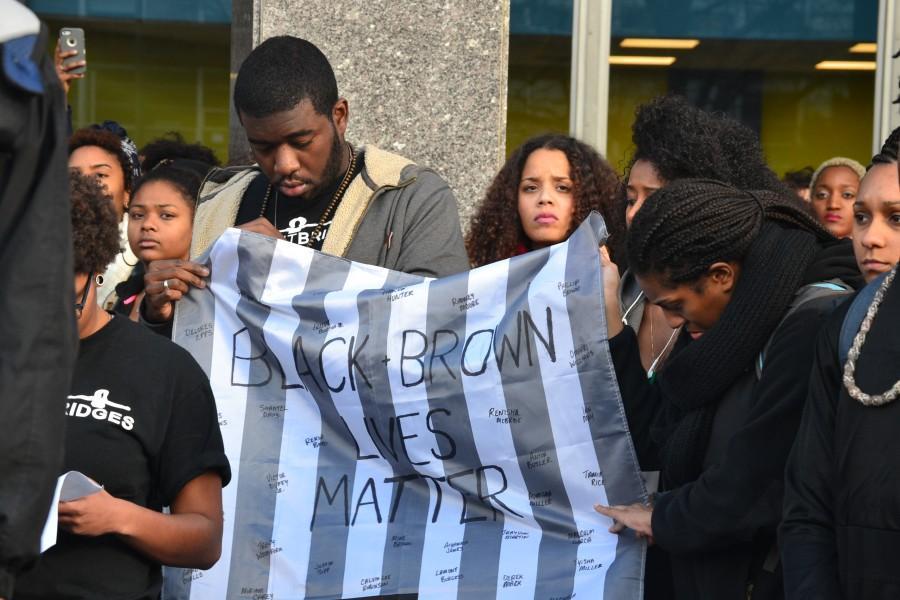 UMass+students+walk-out+for+Ferguson