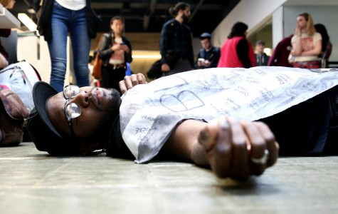 Black students stage lie-in against racism and police brutality